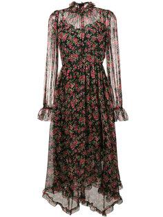 платье макси с принтом роз Dolce & Gabbana