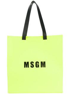 сумка-шоппер с логотипом MSGM