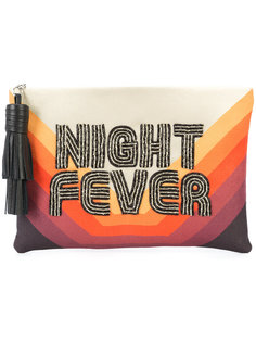 night fever embroidered clutch Sarah's Bag