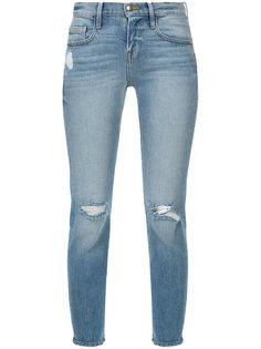 укороченные состаренные джинсы скинни  Frame Denim