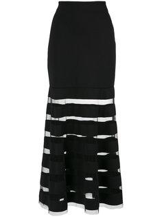 юбка макси с прозрачными вставками Gloria Coelho