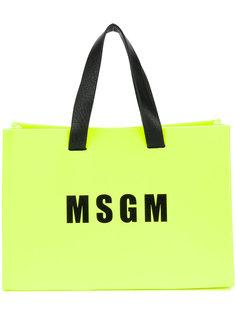 мини сумка-шоппер с логотипом MSGM
