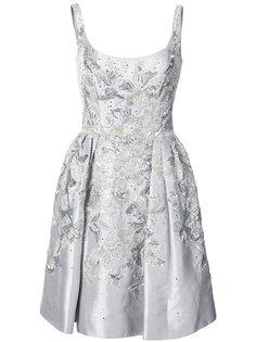 декорированное платье Marchesa