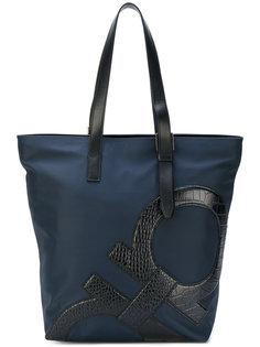 сумка-тоут с двойной деталью Gancio Salvatore Ferragamo