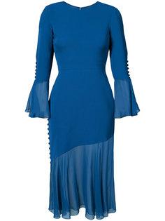 платье с оборками  Prabal Gurung