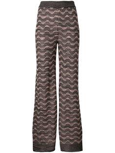широкие брюки металлик  M Missoni