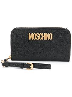 кошелек с логотипом Moschino