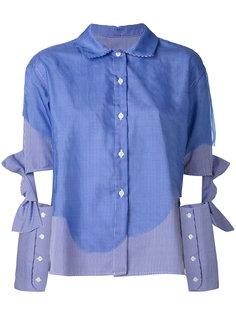 полосатая рубашка с бантами на рукавах Roberts Wood
