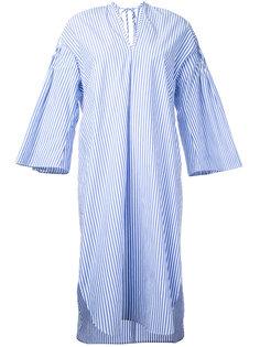 платье в полоску с рукавами клеш  Muveil