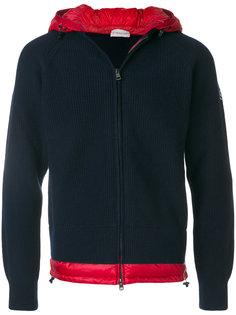 свитер на молнии с капюшоном Moncler
