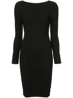 облегающее платье с открытой спиной Helmut Lang