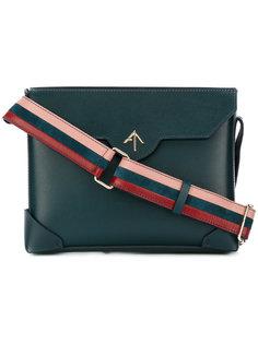 сумка-сэтчел с контрастной лямкой Manu Atelier