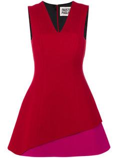 расклешенное платье дизайна колор-блок Fausto Puglisi