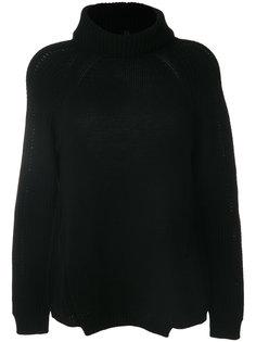 трикотажный свитер с отворотом Blugirl