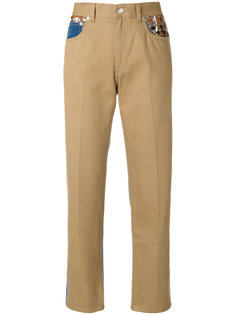 брюки с карманами в стилистике пэчворк Sonia Rykiel