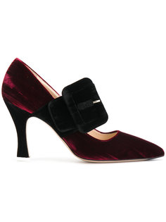 туфли-лодочки с широким ремешком Attico