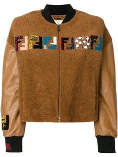 куртка-бомбер с вышивкой  Fendi