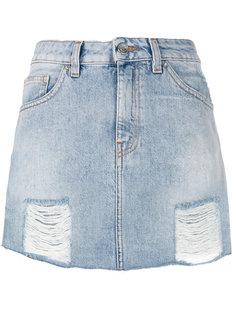 состаренная джинсовая юбка  Iro