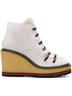 wedge lace-up boots Moncler