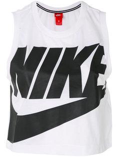 укороченная майка с логотипом Nike
