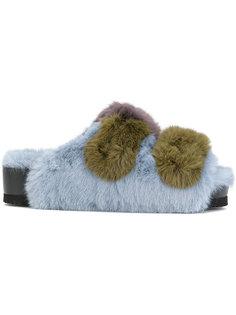 сандалии из искусственного меха на платформе Suecomma Bonnie