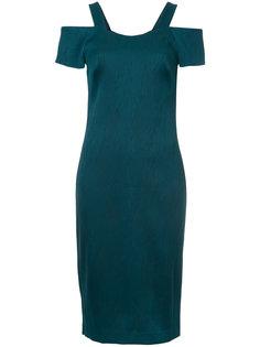 платье миди с открытыми плечами  GINGER & SMART