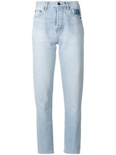 зауженные джинсы с завышенной талией Saint Laurent