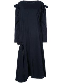 свободное платье с оборками Yohji Yamamoto