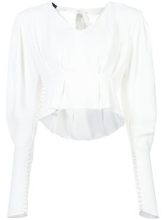 cropped puff sleeve blouse Magda Butrym