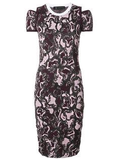 трикотажное платье с принтом Versace