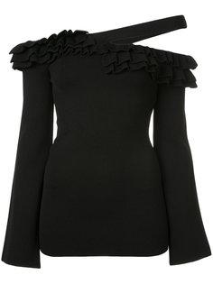 асимметричное платье с оборкой  Rebecca Vallance