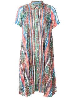 платье-рубашка с принтом  Marco De Vincenzo
