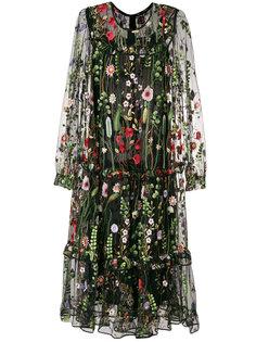 платье с цветочной вышивкой Odeeh