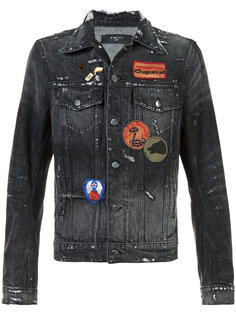 distressed denim jacket Amiri