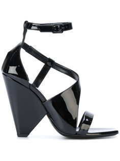 босоножки на каблуке геометрической формы Saint Laurent