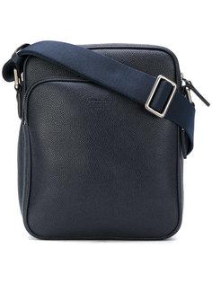 сумка-мессенджер с тисненым логотипом Giorgio Armani