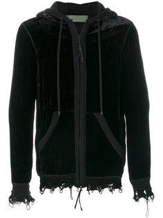 куртка с вышивкой и рваными деталями Di Liborio