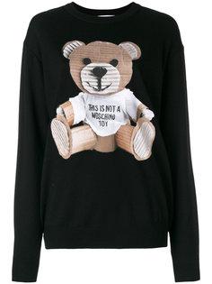 свитер с принтом  Moschino