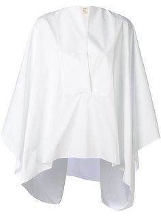 рубашка с драпировкой  Maison Rabih Kayrouz