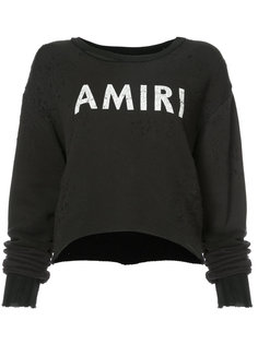logo patch sweatshirt Amiri