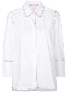 рубашка с декоративно строчкой Marni
