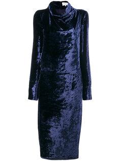 бархатное платье с воротником-хомут  Maison Margiela
