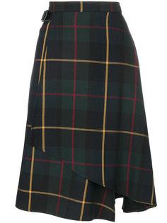 расклешенная юбка с принтом тартан  Manoush