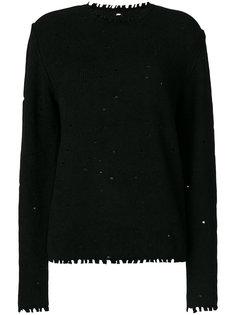 состаренный пуловер  Uma Wang
