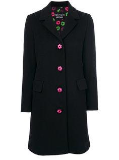 пальто с декоративными пуговицами Boutique Moschino