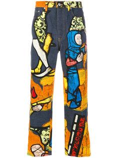 джинсы с графическим принтом J.W.Anderson