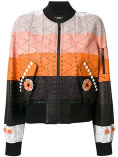 куртка-бомбер в стиле колор блок Fendi