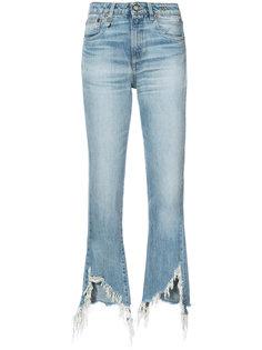 укороченные брюки с необработанными краями R13