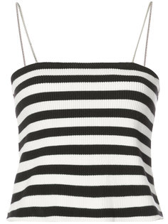 striped fitted top Amiri
