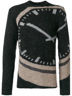 свитер с принтом часов Stephan Schneider